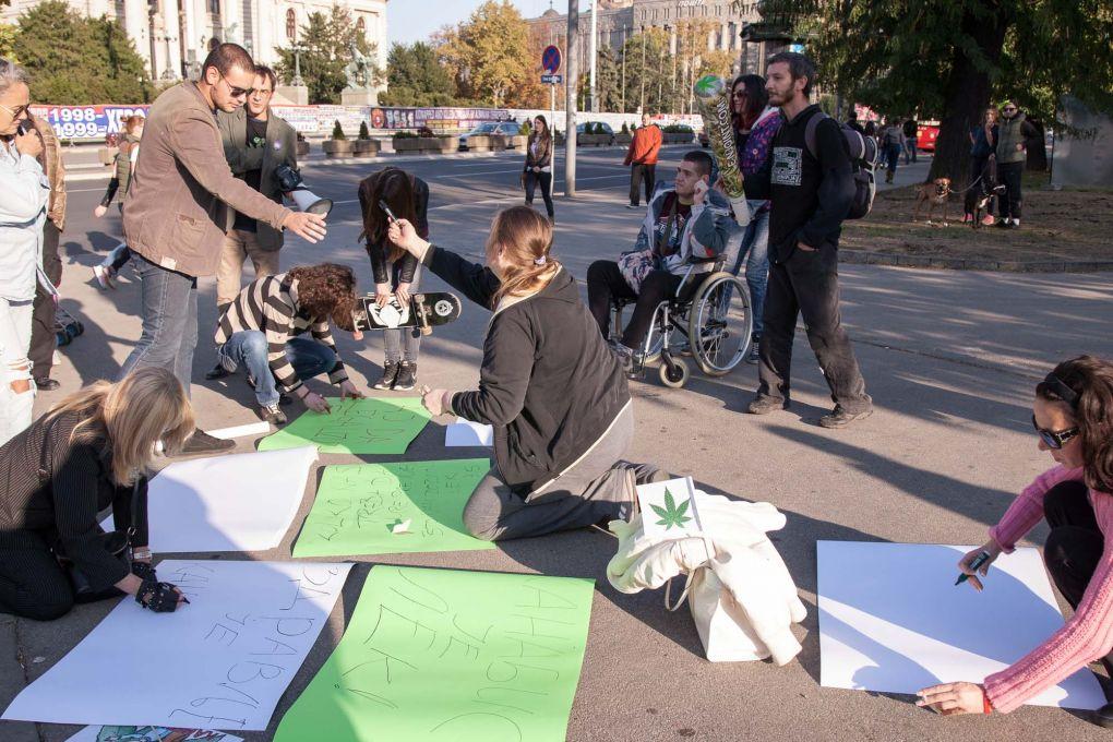 3, Kanabis marš, Beograd, 30. Septembar 2017. Foto: Saša Čolić